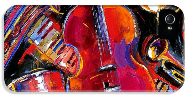 Saxophone iPhone 5 Case - Bass And Friends by Debra Hurd