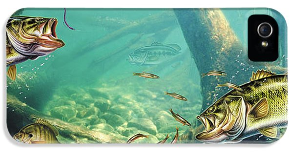 Bass iPhone 5 Case - Bass Lake by JQ Licensing