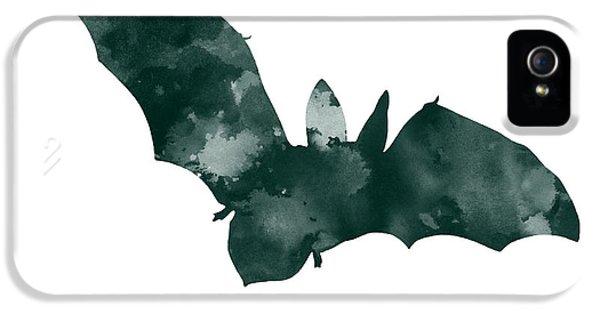 Bat Minimalist Watercolor Painting For Sale IPhone 5 Case by Joanna Szmerdt