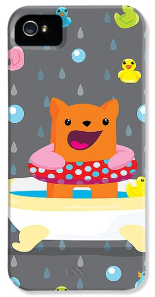 Bath Time  IPhone 5 Case by Seedys