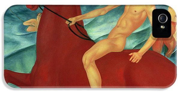 Bathing Of The Red Horse IPhone 5 / 5s Case by Kuzma Sergeevich Petrov-Vodkin