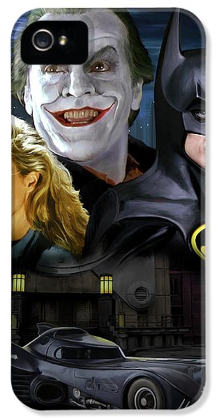 Jack Nicholson iPhone 5 Case - Batman 1989 by Paul Tagliamonte