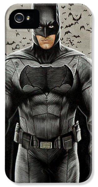 Batman Ben Affleck IPhone 5 Case by David Dias