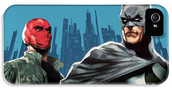 Batman Under The Red Hood 2010  IPhone 5 Case by Caio Caldas