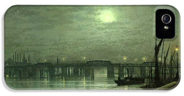 Battersea Bridge By Moonlight IPhone 5 / 5s Case by John Atkinson Grimshaw