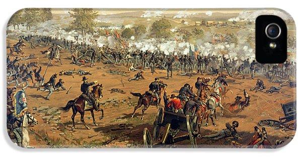 Gettysburg iPhone 5 Case - Battle Of Gettysburg by Thure de Thulstrup