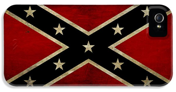 Gettysburg iPhone 5 Case - Battle Scarred Confederate Flag by Randy Steele