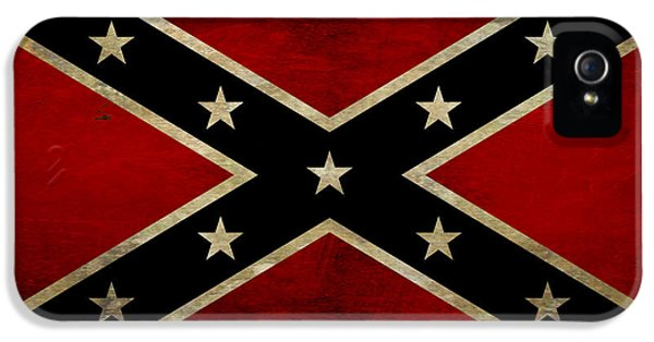 Battle Scarred Confederate Flag IPhone 5 Case by Randy Steele