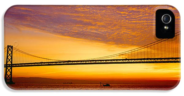 Bay Bridge At Sunrise, San Francisco IPhone 5 Case by Panoramic Images