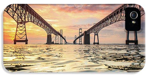 Architecture iPhone 5 Case - Bay Bridge Impression by Jennifer Casey