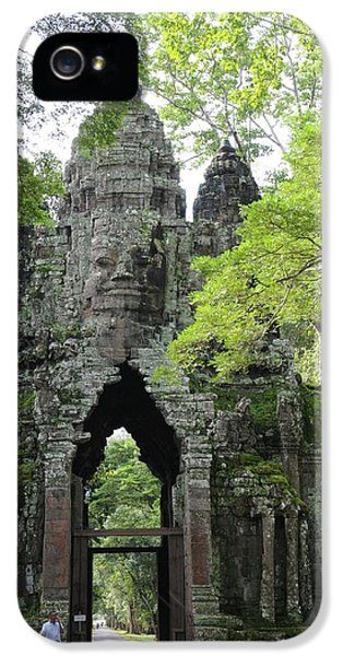 Archeology iPhone 5 Cases - Bayon Gate iPhone 5 Case by Marion Galt