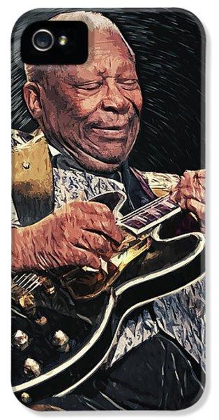 B.b. King II IPhone 5 Case by Taylan Apukovska