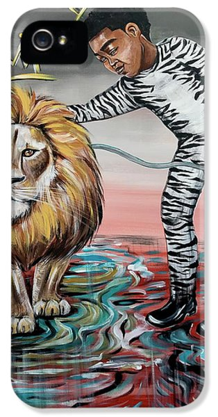 iPhone 5 Case - Be Courageous My Son by Artist RiA