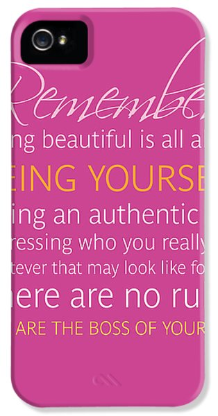 Be Yourself IPhone 5 Case by Luzia Light