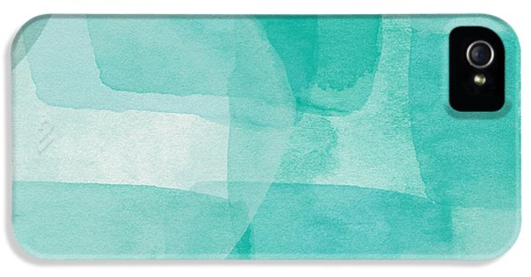 Beach Glass- Abstract Art By Linda Woods IPhone 5 Case by Linda Woods