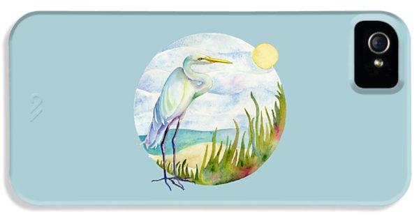 Beach Heron IPhone 5 Case by Amy Kirkpatrick