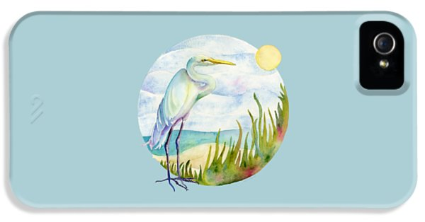 Beach Heron IPhone 5 Case by Amy Kirkpatrick