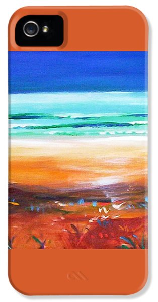 IPhone 5 Case featuring the painting Beach Joy by Winsome Gunning