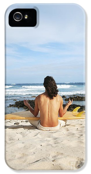 Breathe iPhone 5 Case - Beach Meditation by Brandon Tabiolo - Printscapes
