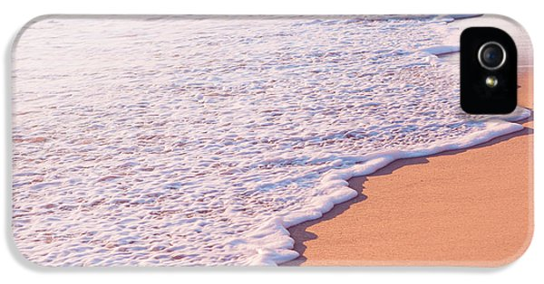 Beach Waves At Sunset  IPhone 5 Case by Ariane Moshayedi
