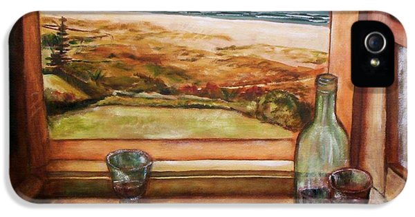 IPhone 5 Case featuring the painting Beach Window by Winsome Gunning