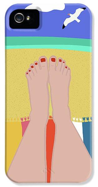 Beachy Keen IPhone 5 Case by Nicole Wilson