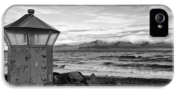 Beacon At Hvaleyrarviti In Iceland Bw IPhone 5 Case by Andres Leon