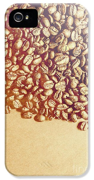 Bean Background With Coffee Space IPhone 5 Case by Jorgo Photography - Wall Art Gallery