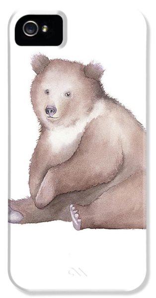 Bear Watercolor IPhone 5 Case by Taylan Apukovska