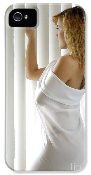 Beautiful Woman Near A Window IPhone 5 Case by Oleksiy Maksymenko
