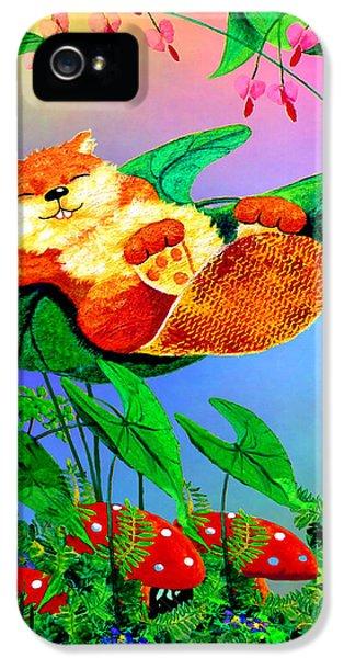 Beaver Bedtime IPhone 5 Case by Hanne Lore Koehler