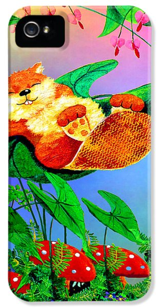 Beaver Bedtime IPhone 5 Case by Hanne Lore Koehler