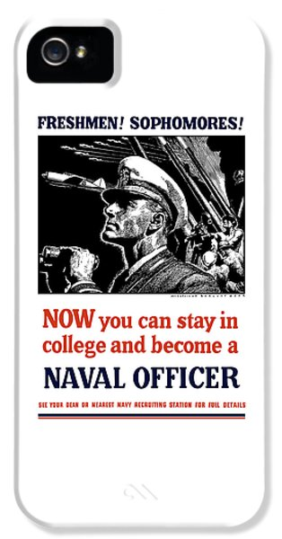 Become A Naval Officer IPhone 5 Case by War Is Hell Store