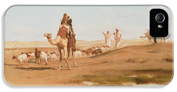 Bedouin In The Desert IPhone 5 Case by Frederick Goodall