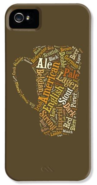 Beer iPhone 5 Case - Beer Lovers Tee by Edward Fielding
