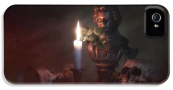 Beethoven By Candlelight IPhone 5 Case by Tom Mc Nemar