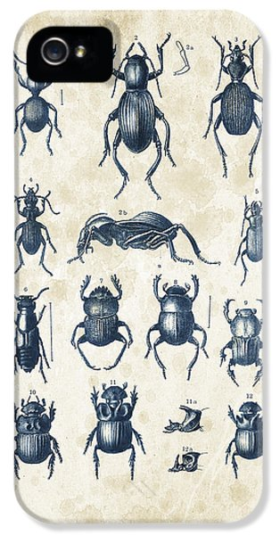 Beetles - 1897 - 01 IPhone 5 Case by Aged Pixel