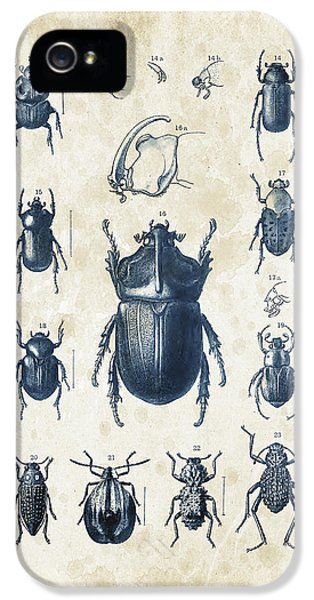 Beetles - 1897 - 02 IPhone 5 Case by Aged Pixel
