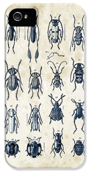 Beetles - 1897 - 04 IPhone 5 Case by Aged Pixel