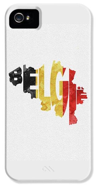 Belgium Typographic Map Flag IPhone 5 Case