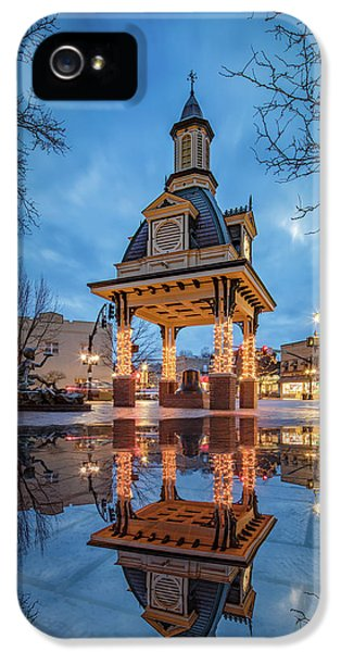 Bell Tower  In Beaver  IPhone 5 Case by Emmanuel Panagiotakis