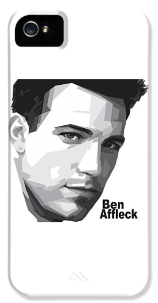 Ben Affleck Portrait Art IPhone 5 Case by Madiaz Roby
