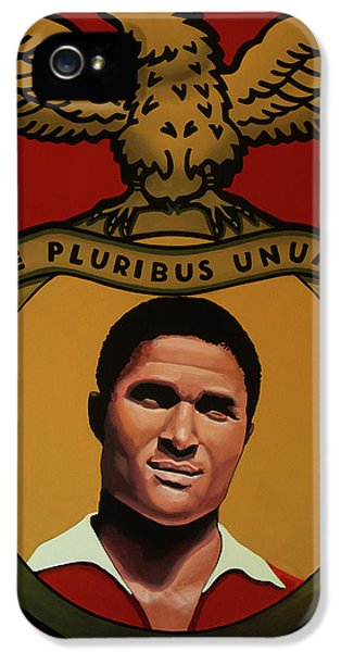 Pele iPhone 5 Case - Benfica Lisbon Painting by Paul Meijering