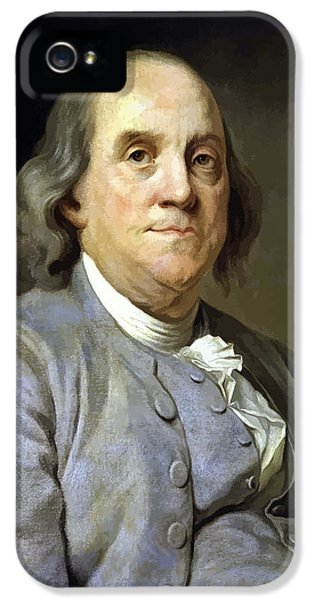 Benjamin Franklin IPhone 5 Case by War Is Hell Store