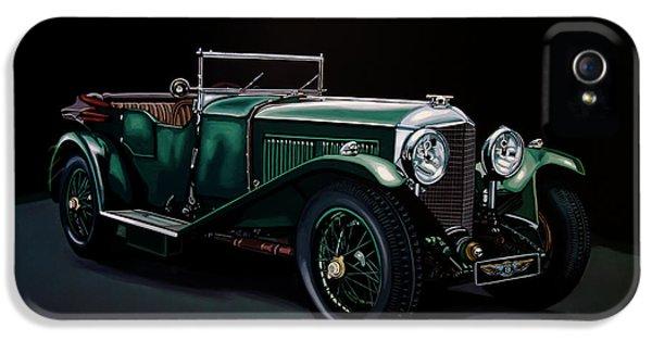 Bentley Open Tourer 1929 Painting IPhone 5 Case by Paul Meijering