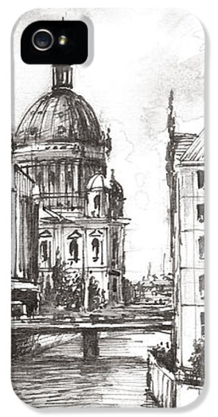 Berlin Black And White View On The Speer IPhone 5 Case