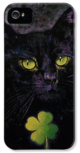 Lucky Black Cat IPhone 5 / 5s Case by Michael Creese