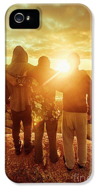 IPhone 5 Case featuring the photograph Best Friends Greeting The Sun by Jorgo Photography - Wall Art Gallery