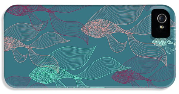 Beta Fish  IPhone 5 / 5s Case by Mark Ashkenazi