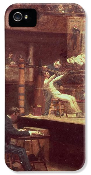 Between Rounds IPhone 5 Case by Thomas Cowperthwait Eakins